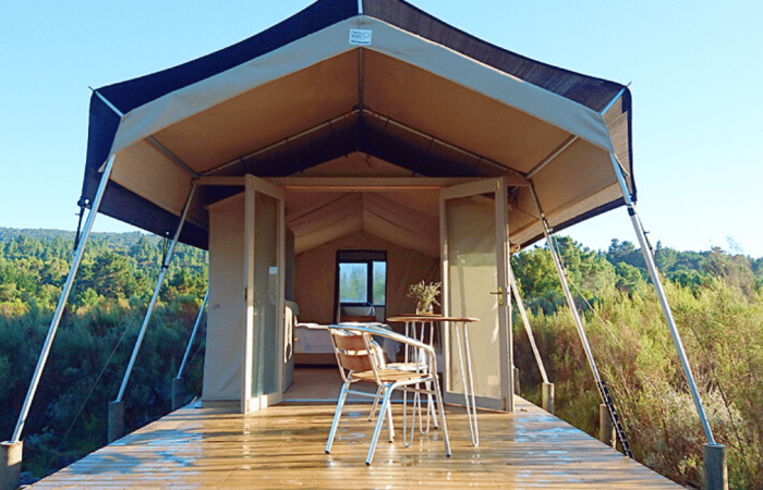 Luxury tent at Reflections Eco-Reserve on the Garden Route